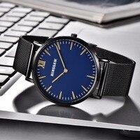 BINSSAW New Men Quartz Stainless Steel Fashion Business Watch Ultrathin Gold China Luxury Brand Gift Watches Relogio Masculino