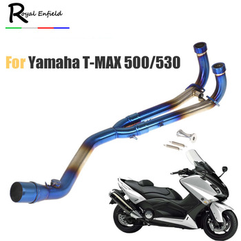 T-MAX 500 530 Slip-on Motorcycle exhaust full system middle link pipe down pipe for Yamaha TMAX 500 530 2008 2009 2010 2011-16