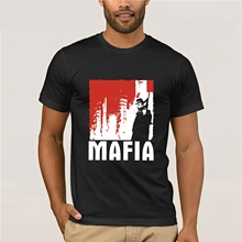 Online Shirt Store Men's O-Neck Mafia 1 The City Of Lost Heaven Game T-Shirt (Black Red) S 3XL Short Sleeve Best Friend Shirts kataklysm kataklysm heaven s venom