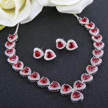 Tuliper biżuteria w kształcie serca zestaw zestaw biżuterii ślubnej miedzi sześciennych naszyjnik cyrkoniowy zestaw kolczyków dla kobiet retro na przyjęcie biżuteria akcesoria tanie tanio Kobiety Moda TRENDY Cyrkonia Ślub ALBL01936 ALBL01937 ALBL01938 ALBL01939 Serce Naszyjnik kolczyki Necklace Earrings Jewelry Set