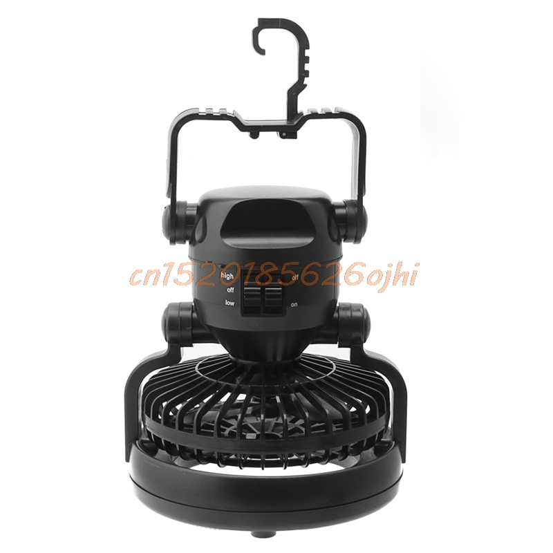 Camping <font><b>Ceiling</b></font> Fan Light Hanging Tent Lamp Lantern Outdoor 18 LED Lamp 2 In 1 #h030#