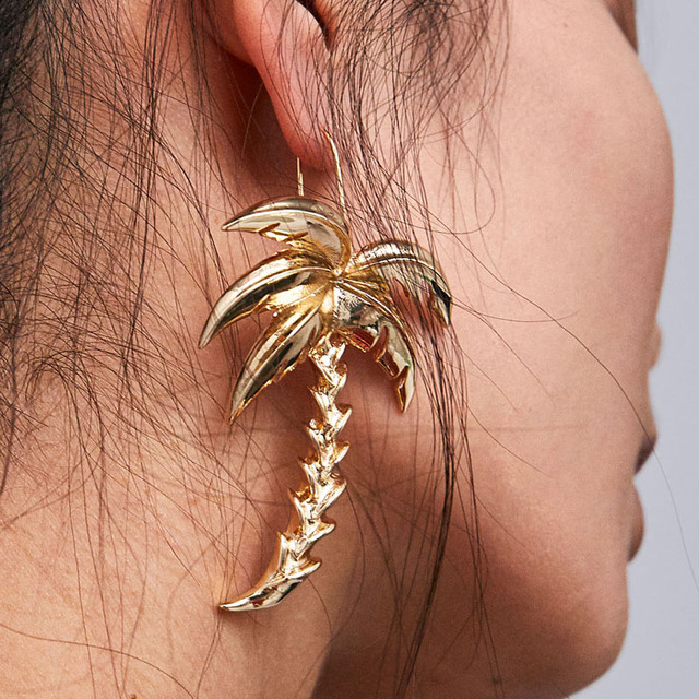 Dvacaman Fashion Women Boho Coco Tree Dangle Earrings Jewelry for Wedding Gift P