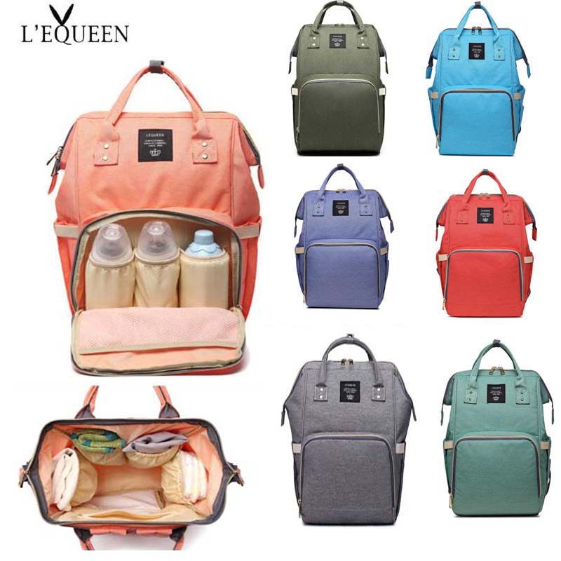 LEQUEEN Fashion Mommy Maternity Diaper Bag Large Care Travel Backpack Designer Baby Stroller Baby Bag Baby Care Diaper Backpack