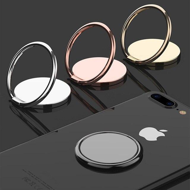 Luxury Metal Mobile Phone Socket Holder Universal 360 Degree Rotation Finger Ring Holder Magnetic Car Bracket Stand Accessories