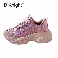 2019 весенне Осенняя обувь, женская обувь на платформе, женская повседневная обувь на шнуровке, обувь на толстой резиновой подошве, кроссовки