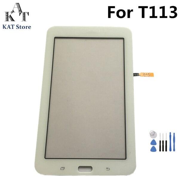 لسامسونج غالاكسي تبويب 3 لايت 7.0 SM-T110 T111 T113 T114 T113NU T116 محول الأرقام بشاشة تعمل بلمس شاشة الكريستال السائل استبدال + أدوات