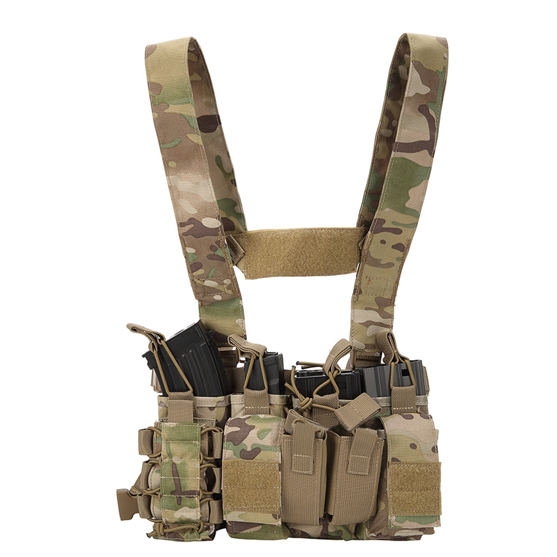 Light Weight Heavy Duty Utility Training Multi Pocket D3 Carrier Military Chest Rig  for Army Hunting Airsoft Shooting - CPLight Weight Heavy Duty Utility Training Multi Pocket D3 Carrier Military Chest Rig  for Army Hunting Airsoft Shooting - CP
