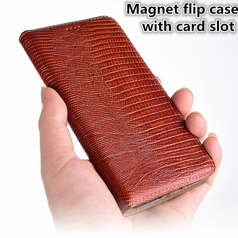 LJ11 Lizard Pattern Genuine Leather Magnetic Phone Bag For Nokia 8 Sirocco(5.5') Case For Nokia 8 Sirocco Flip Case Stand Coque