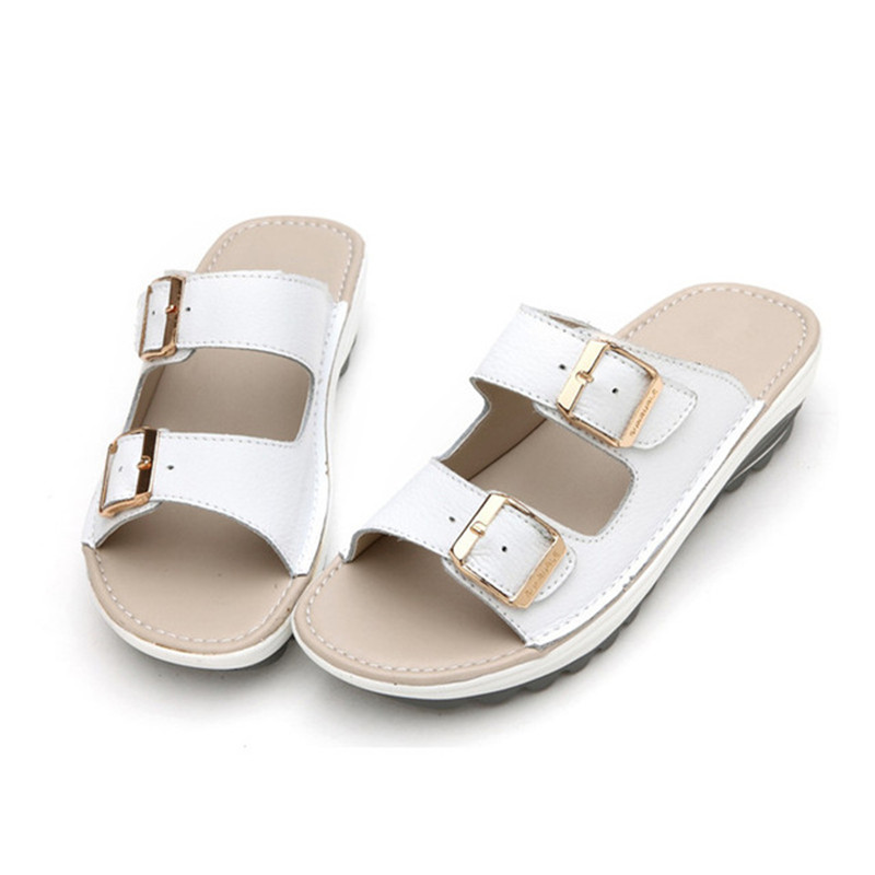 658917de3 MVVJKE Plus Size 35 42 Hot New Summer Woman Beach Slippers Sandals Casual  Double Buckle Clogs Sandalias Women Slip on Flip Flop -in Slippers from  Shoes on ...
