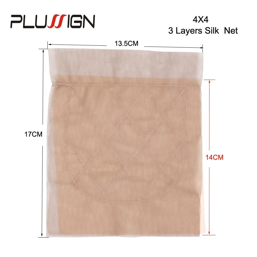Best 4x4 13x4 Top Silk Base Lace Frontal Closure Net Basement Foundation Wig Hair Net For Weaving Wholesale 12 Pcs/Lot