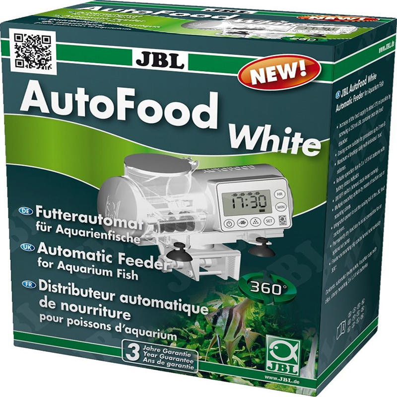 LCD DISPLAY JBL AUTOFOOD WHITE BLACK AUTOMATIC FEEDER GRANULE FOOD MACHINE FISH TANK AQUARIUM
