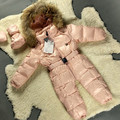 Baby Snowsuit Infant Girl Snowsuit Down 0-24 Months Pink Baby Girl Winter Clothes Warm Newborn Baby Clothes Newborn Snowsuit