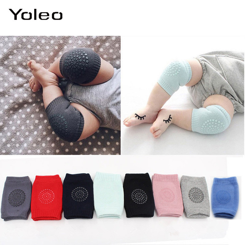1 Pair Baby Knee Pad For Crawling And Safety Baby Knee Pads Protector Soft Anti-slip Crawling Elbow Cushion Kneepads For Infant