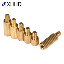 M2 Brass Male Female Knurl Standoff Mount Single Round Spacing Pillar Threaded PCB Mountboard Spacer Hollow Bolt Screw M2xL 4mm