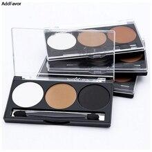 AddFavor 3Colors Makeup Contour Kit Shimmer Highlight Make Up Powder Cosmetics Hills Trimmer Bronzer Tool Face Powder Palette