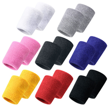 2pcs Universal Wrist Band Sport Sweat Bandage Support Brace Hand Wrap Guards For Gym Tennis Basketball Protector