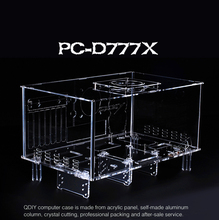QDIY PC-D777XM  Horizontal MircoATX HTPC Acrylic Transparent Desktop PC Computer Case