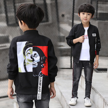 Teen Sport Jackets Coat 2018 Spring Autumn Fashion Big Boys Windbreaker Tops Zipper Kids Baseball Sweatshirt Teenager Outerwear