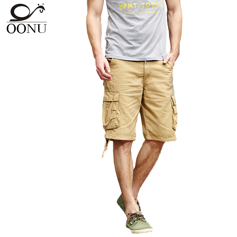 OONU 2017 Summer Men's Army camouflage Work Casual bermuda cargo Shorts Men Fashion Joggers Overall military Trousers Short 261