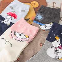 Novo bonito dos desenhos animados meias moda harajuku meias engraçadas cortes de mujer primavera verão curto bonito meias para a menina inverno quente meias