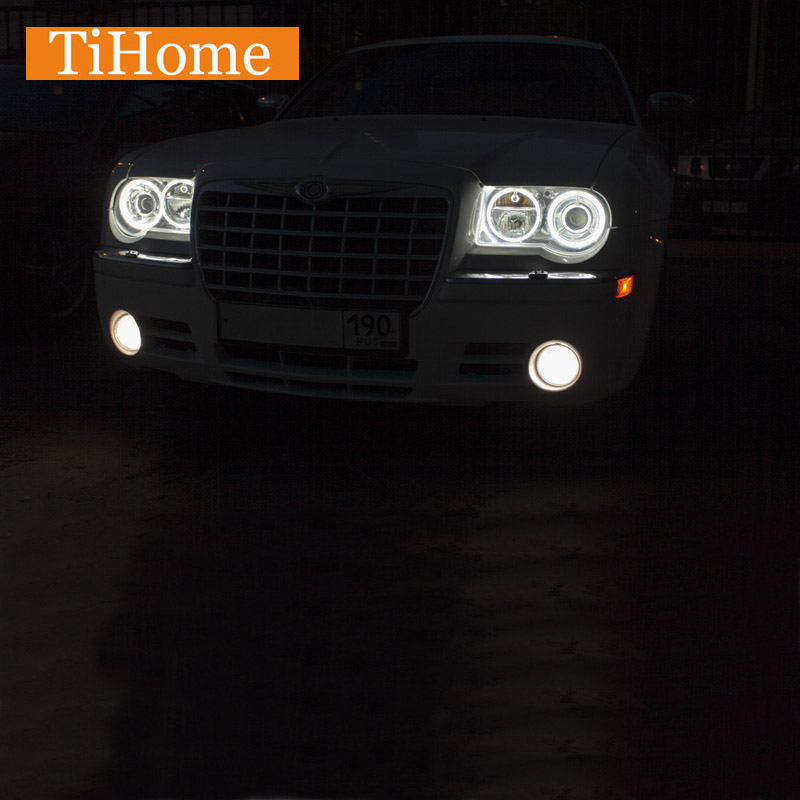 Black 2005 2006 2007 2008 2009 2010 Chrysler 300c: CCFL Angel Eyes For Chrysler 300c 2005 2006 NON Projector