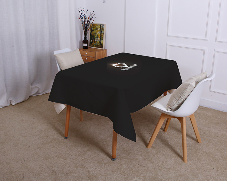Religious Islam table cloth Waterproof linen Black bottom Muslim moon Eid al-Fitr Home Decoration tablecloth Cover For Living