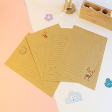 10pcs/pack Vintage Chinese Style Deer Painting Kraft Writing Paper Letter Invitation Paper Stationery Paper Pad Note Letter Set цена и фото