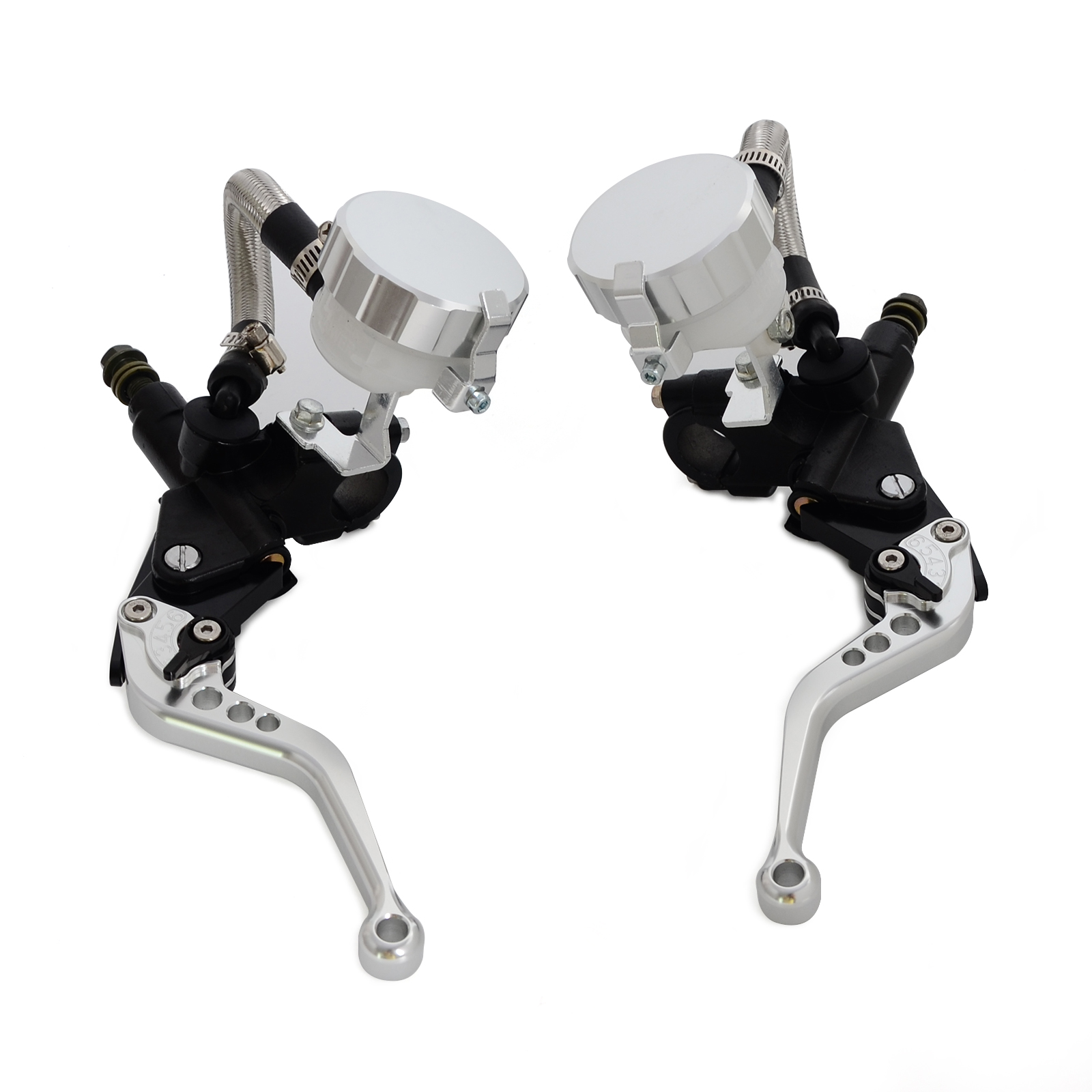 "Image 3 - NICECNC Universal Motorcycle 7/8""Clutch Brake Levers Master Cylinder Oil Fluid Reservoir Motocross Enduro Supermoto Dirt Bike-in Levers, Ropes & Cables from Automobiles & Motorcycles"