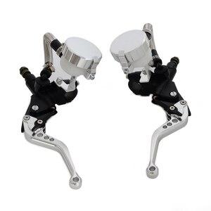 Image 3 - Nicecnc alavancas de freio de motocicleta, reservatório universal para fluido de cilindro mestre para embreagem e óleo de 7/8 polegadas motocross enduro supermoto