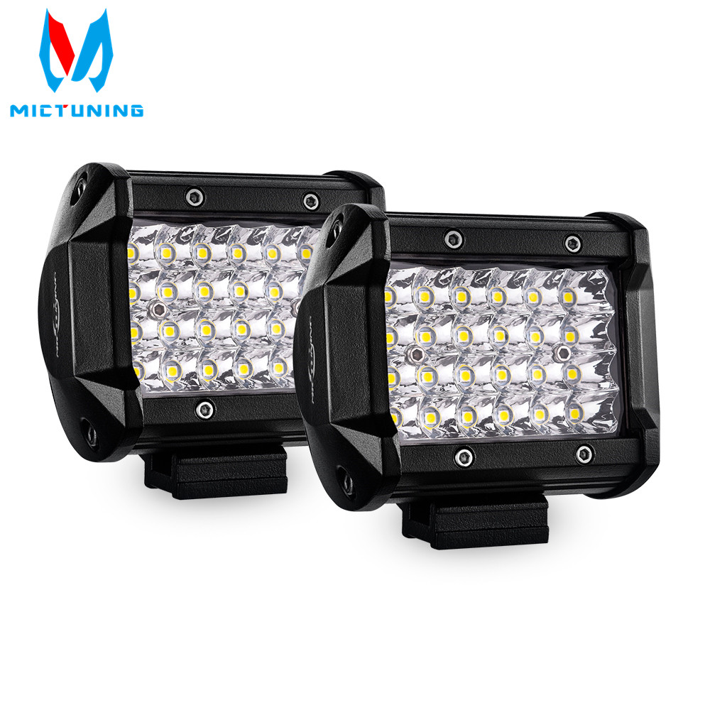 2pcs 4 inch 72W Spot LED Work Light Bar 12V 24V Offroad LED Light Bar Car 4X4 4WD Truck SUV ATV Trailer Pickup Driving LED BeamLight Bar/Work Light   -