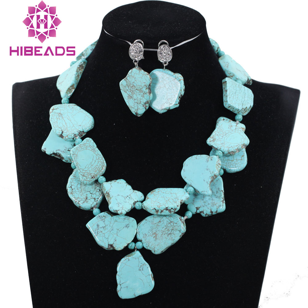 Fashion Statement Necklace Set Indian Jewelry Wedding Set Necklace Earrings Set QW1119 nylon rope alloy statement necklace set