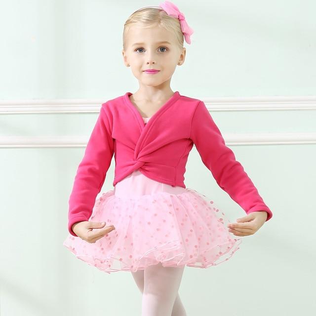 a90bd49adc02 Winter Autumn Warm Child Girls Ballet Wrap Sweater Cardigan Dance ...