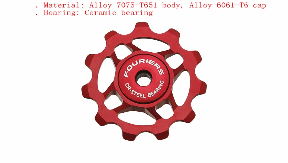 FOURIERS AC-DX001 cnc lightweight pulley Ceramic bearing Bike Wheel Fix for Shimano 8/9/10 speed Campagnolo 9/10 speed Bicycle джемпер женский campagnolo fleece fix hood