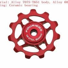 fedd0fa06f FOURIER AC-DX001 cnc Correção leve polia rolamentos De Cerâmica Roda Da  Bicicleta para Shimano