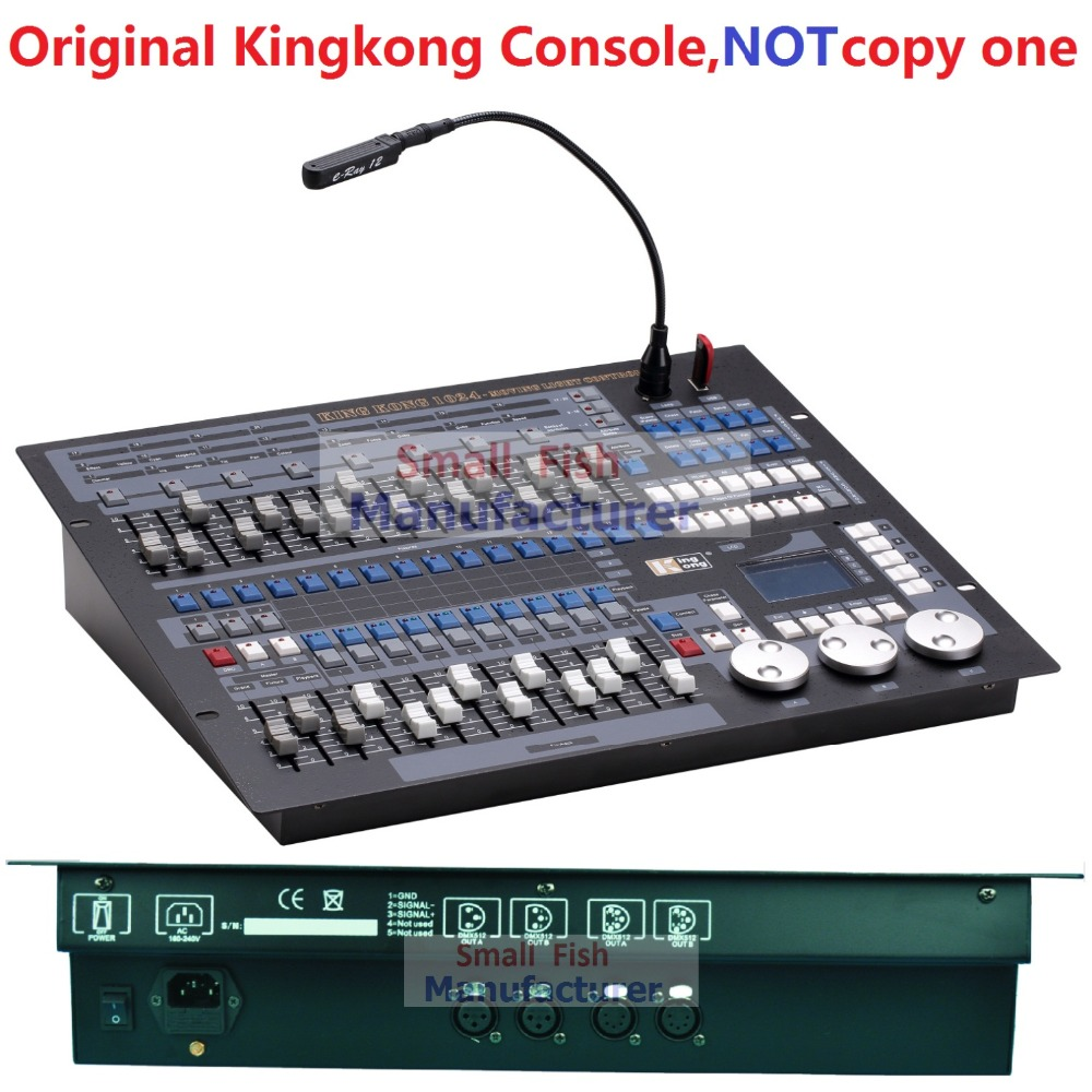 Original Kingkong Brand Professional DMX Console Stage Light Equipment Kingkong 1024 Console DMX512 Computer Lighting Controller kingkong force 80 power combo
