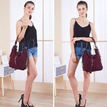 Nico Louise Suede Leather Shoulder Bag  2