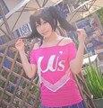 Meninas bonitos do Amor Ao Vivo Camisa Curto Da Luva T Kousaka Honoka Anime Cosplay T-shirt Casual Tops T