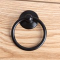 Modern simple black shaky drop rings drawer shoe cabinet knobs pulls antique black dresser kitchen cabinet door rings handles