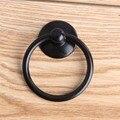 Moderno simple negro temblorosa anillos gota zapato cajón del gabinete puerta del gabinete de cocina perillas dresser tirones antiguo negro anillos maneja