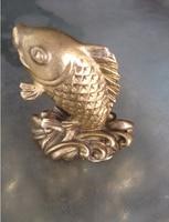 Die alten Chinesischen skulptur kupfer paar feng shui karpfen statuen dekoration bronze factory outlets-in Statuen & Skulpturen aus Heim und Garten bei