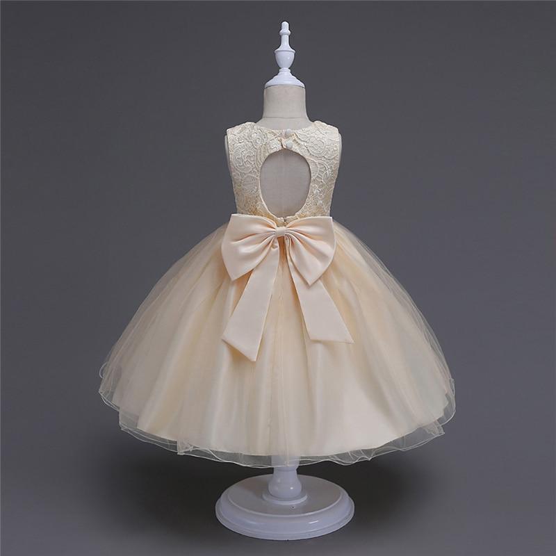 83f68aea8154 Brand Girl Lace Princess Dress Gullig Kids Party Wear Sleevless ...