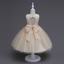 Marke Mädchen Spitze Prinzessin Kleid Nette Kinder Party Tragen Sleevless Bowknots Hohle Tutu Kleidung Baby Mädchen Kleid Kleidung Vestidos