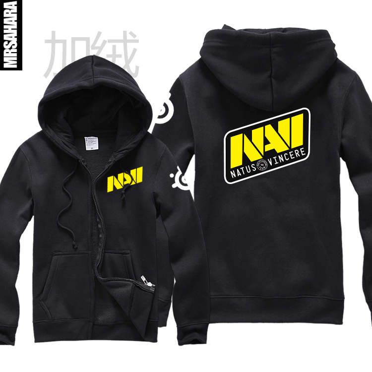 Ectic Dota2 Men's Fashion Winter Sweatshirt Navi Sweatshirt Navi Uniforms Zipper Male Women Fleece Sweat Shirt For Men Free