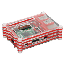 EDT-Basic Kit for Raspberry Pi 2 B+ Model B , 9 Layers Case Box + Cooling Fan Red