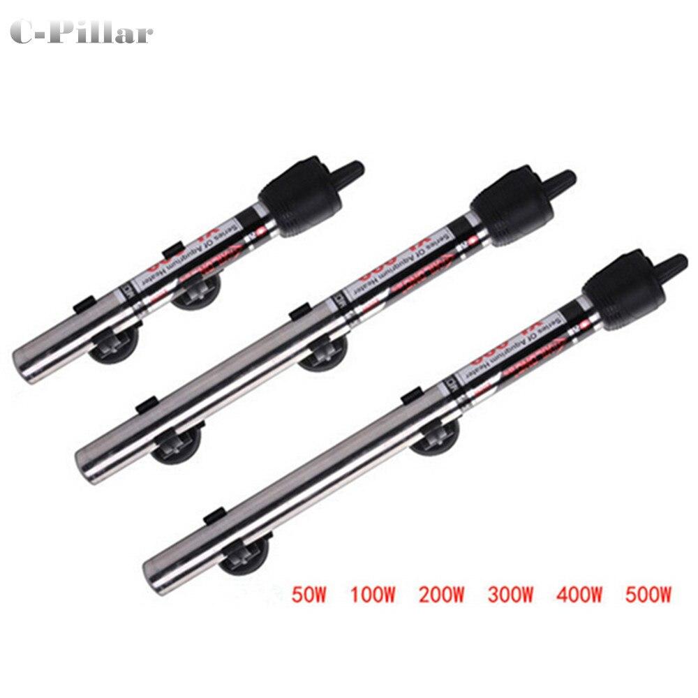 Fish aquarium heater - 50w 500w 500w Stainless Steel Aquarium Fish Tank Water Heater Mini Adjustable Heating Rod For
