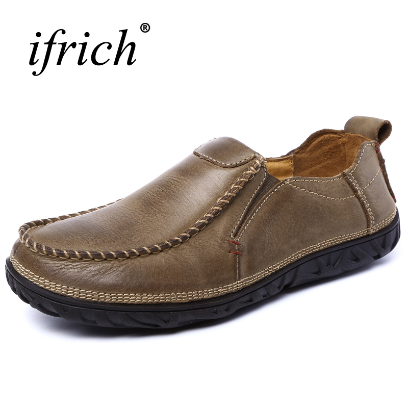 2017 New Men Casual Shoes Luxury Brand Comfortable Walking Footwear Spring Autumn Mens Shoes Genuine Leather Loafers Men men loafers shoes needbo brand handsome comfortable top quality men casual shoes genuine leather fashion breathable shoes men