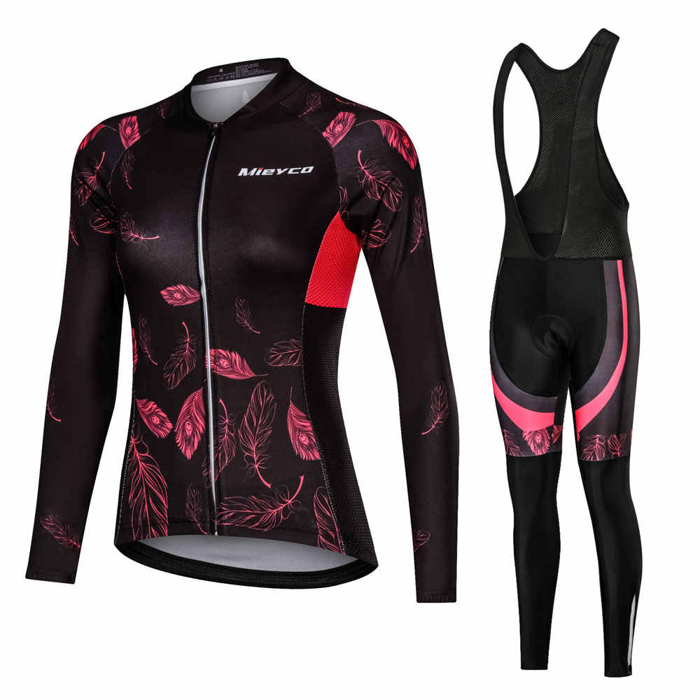 Women Cycling Clothing Cycling Sets Bike uniform Female Long Sleeve Cycling Jersey Set Road Bicycle Jerseys MTB Bicycle Wear