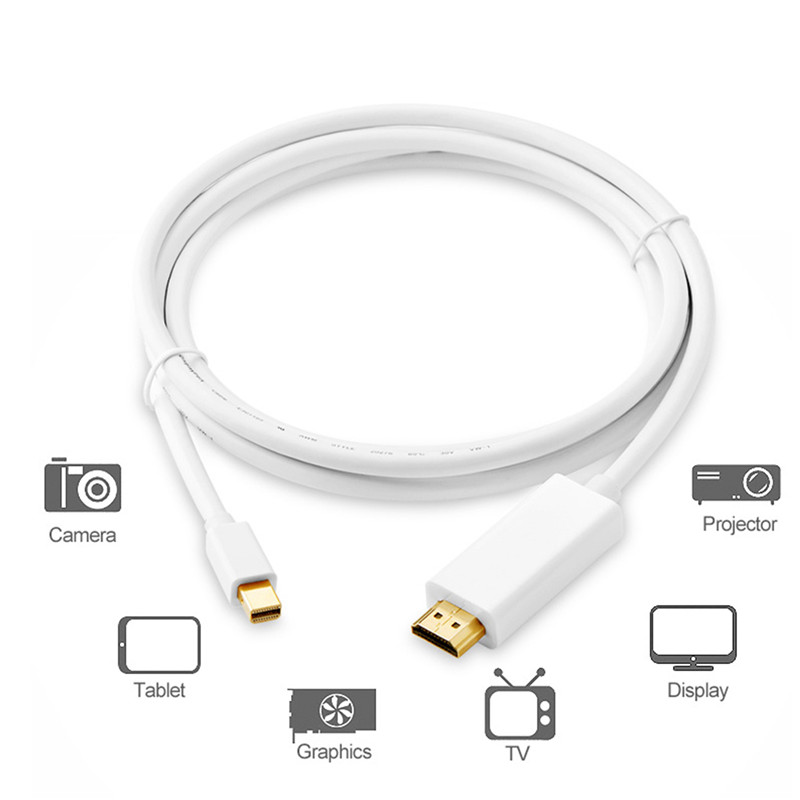 Mini DisplayPort to HDMI Adapter Cable 4K mDP Mini DP Thunderbolt to HDMI 10FT