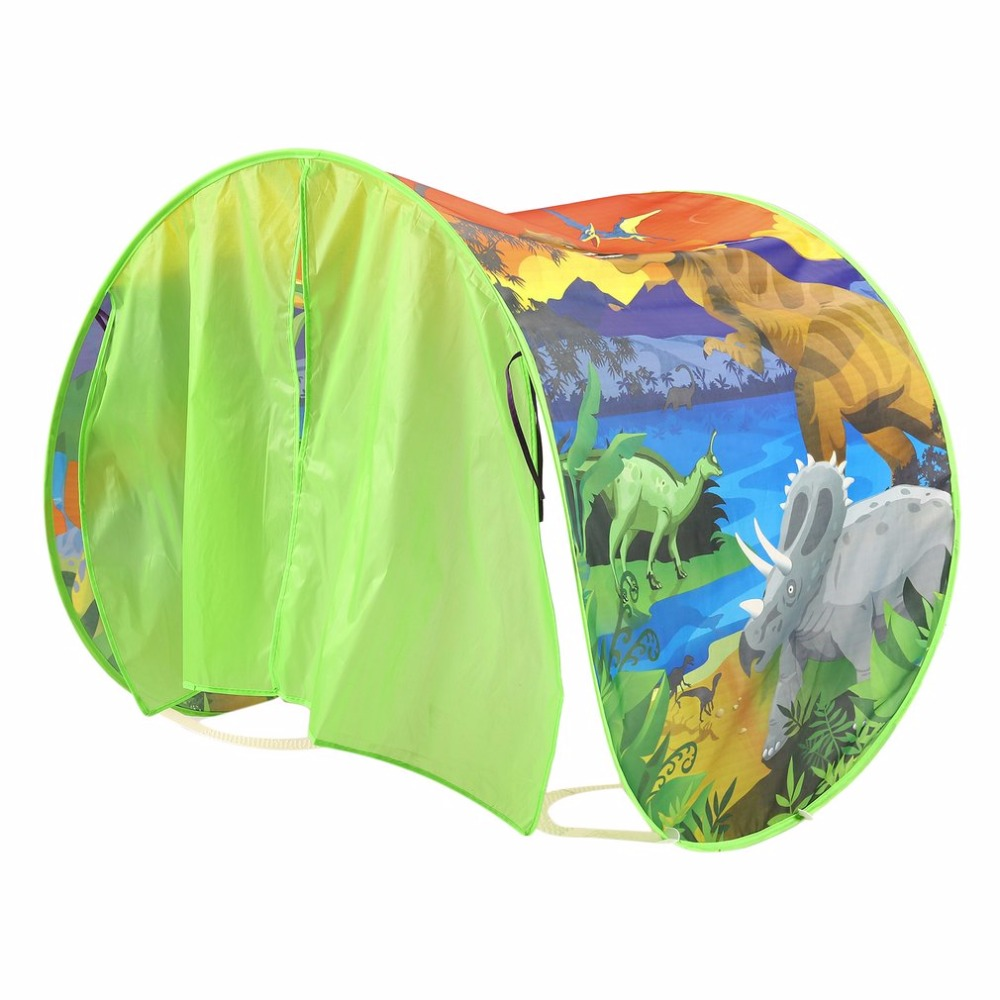 Childrens Sleeping Tent Play Game Tipi Tents Camp Prop Portable Foldable Adventure Wonderland Pattern Bed Tent For Kids Gift