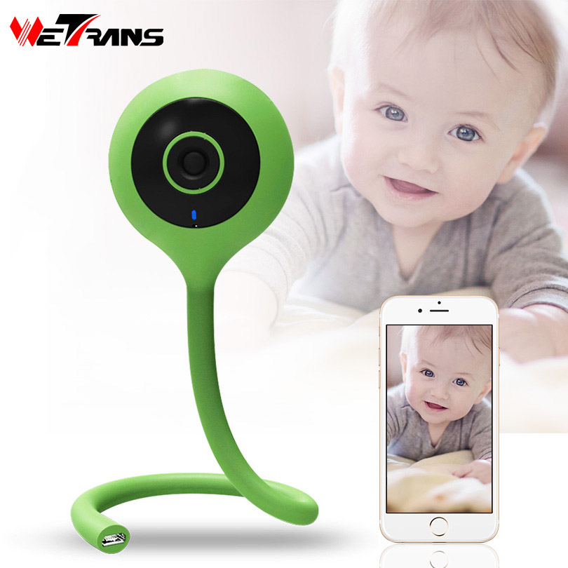 цена Wetrans IP WiFi Camera Baby Monitor HD 720P Smart Home Security Wireless Mini Camera P2P Wide Angle Network Storage Music Alarm
